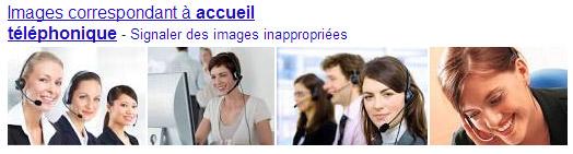 Google : accueil telephonique